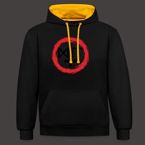 Logo Gu Croix Noir - Sweat-shirt contraste