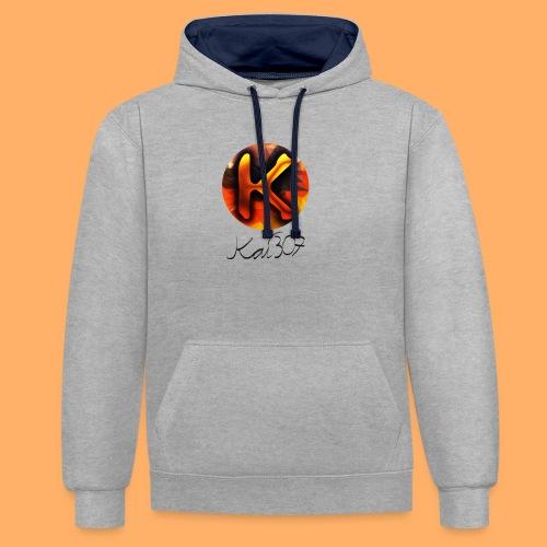 Kai_307 - Profilbild + Unterschrift Schwarz - Kontrast-Hoodie