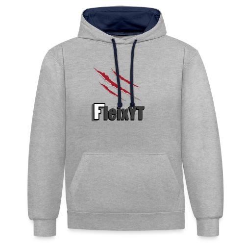 FleixYT - Kralle - Kontrast-Hoodie