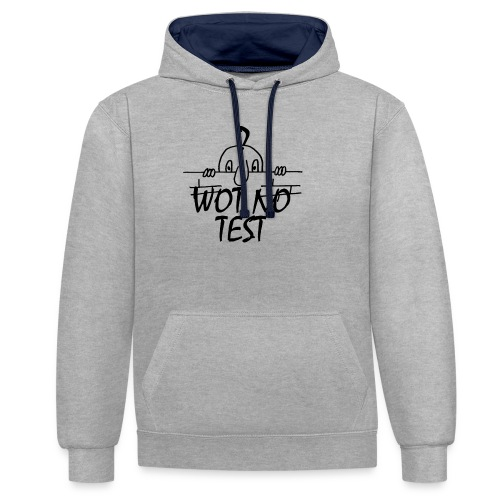WOT NO TEST - Contrast Colour Hoodie