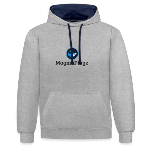 MagmaPlayz shark - Kontrast-hættetrøje