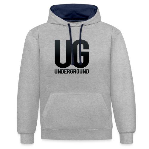 UG underground - Contrast Colour Hoodie