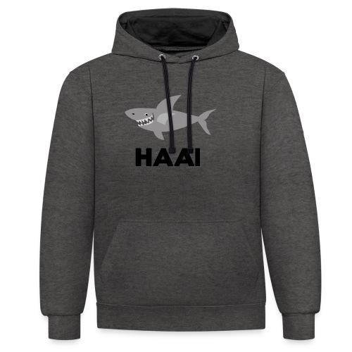 haai hallo hoi - Contrast hoodie
