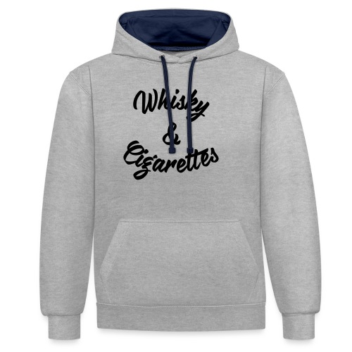 Whisky and Cigarettes - Kontrast-Hoodie