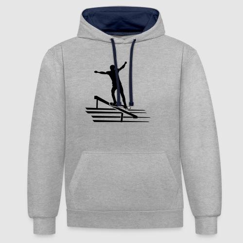 Skateboard - Kontrast-Hoodie