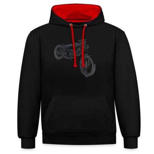 bike (Vio) - Contrast Colour Hoodie