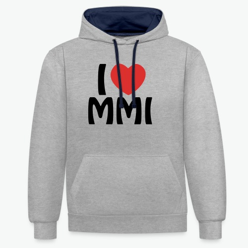 I love MMI - Sweat-shirt contraste