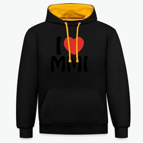 I love MMI - Sweat-shirt contraste