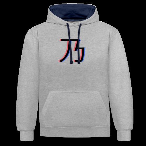 3D Logo - Kontrast-hættetrøje