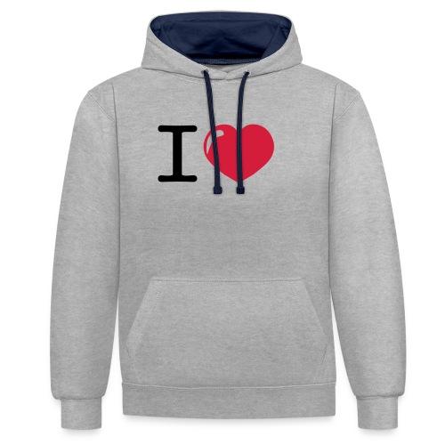 i love heart - Contrast hoodie