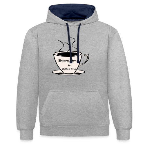 kaffe - Kontrastluvtröja