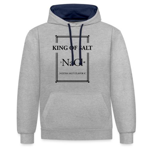 King of Salt - Kontrast-Hoodie
