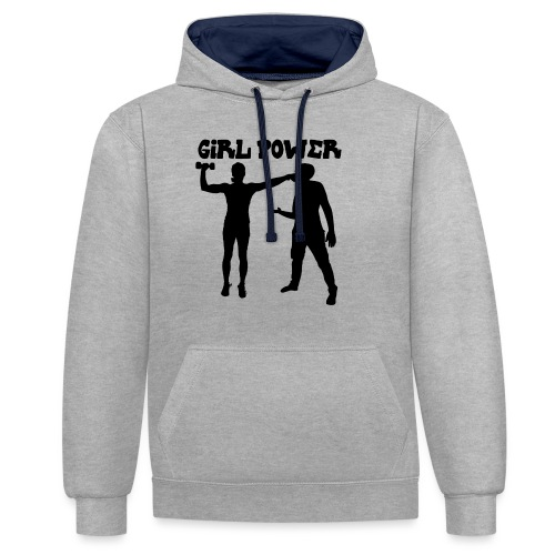 GIRL POWER hits - Sudadera con capucha en contraste