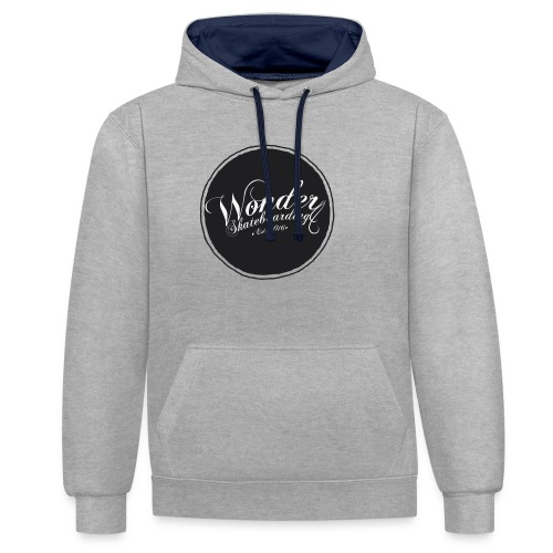 Wonder T-shirt - oldschool logo - Kontrast-hættetrøje