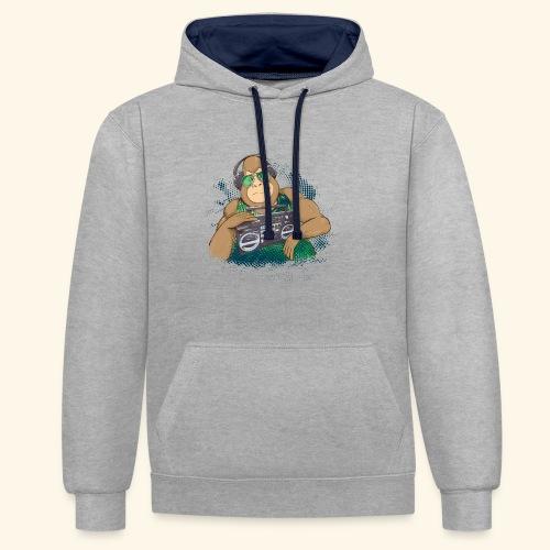 Gorilla Jungle Hiphop - Sudadera con capucha en contraste