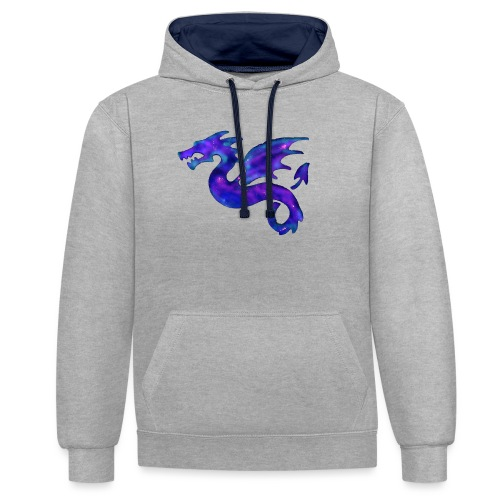 Drago - Felpa con cappuccio bicromatica