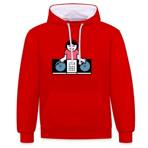 Vinyl DJ - Contrast hoodie