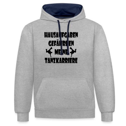 hausaufgaben_tanzkarriere - Kontrast-Hoodie