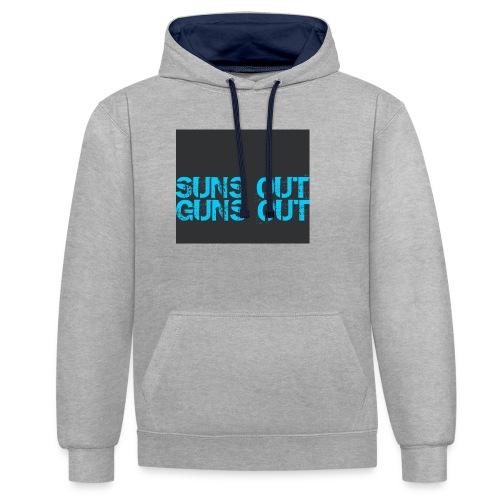 Felpa suns out guns out - Felpa con cappuccio bicromatica