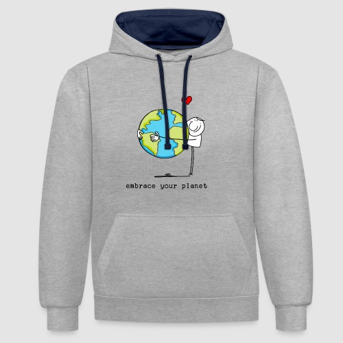 embrace your planet - Kontrast-Hoodie