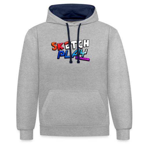 Logo SketchPlayStream - Felpa con cappuccio bicromatica