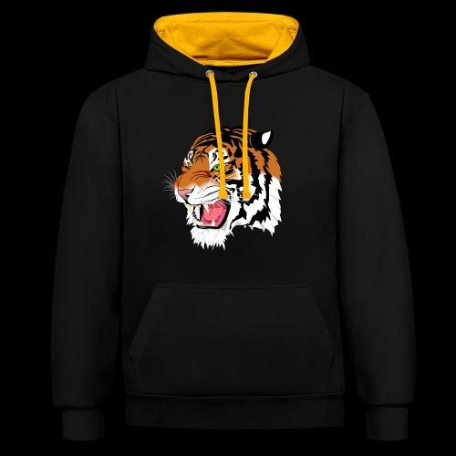 Sumatra Tiger - Kontrast-Hoodie