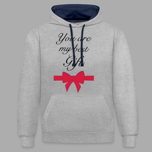 you are my best gift - Contrast Colour Hoodie