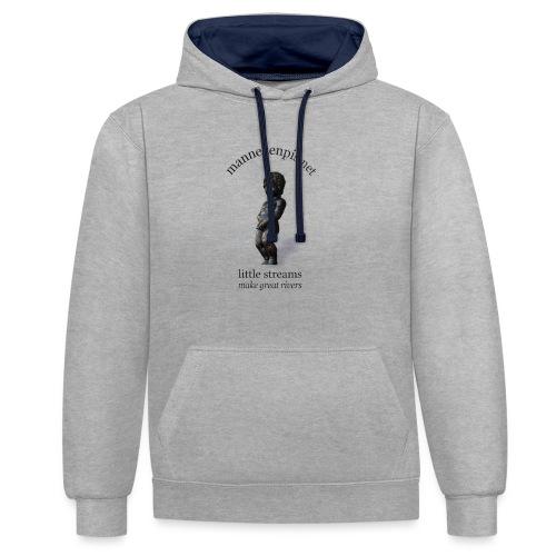 BXL ♀♂ | mannekenpis - Sweat-shirt contraste