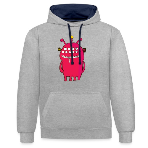 Alienating... (monster #1) - Contrast Colour Hoodie