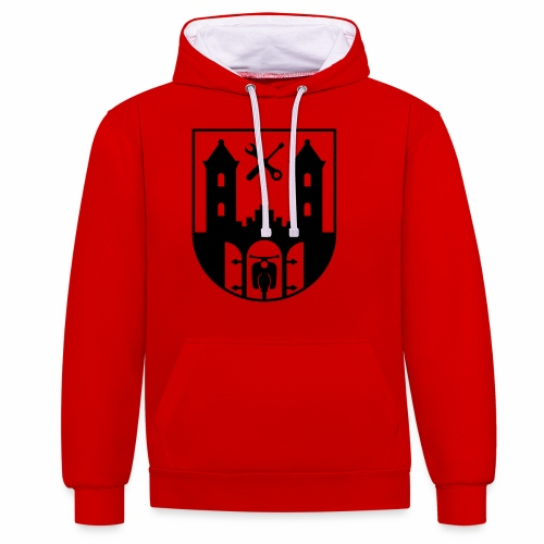 Simson Schwalbe - Suhl Coat of Arms (1c) - Contrast Colour Hoodie