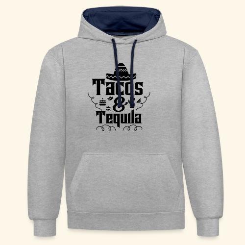 Tacos & Tequila - Kontrast-Hoodie