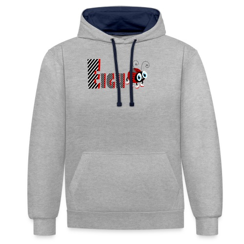 8nd Year Family Ladybug T-Shirts Gifts Daughter - Kontrast-Hoodie
