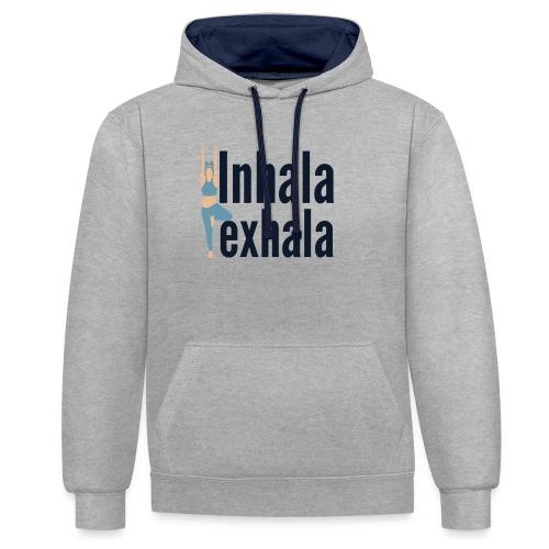 Inhala y exhala - Sudadera con capucha en contraste