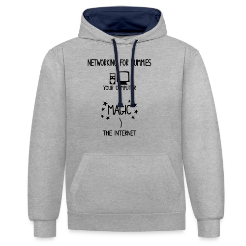 Network Schematic for Dummies - Contrast Colour Hoodie
