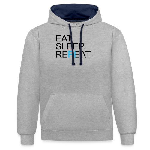 Eat Sleep Repeat PI Mathe Hell - Kontrast-Hoodie
