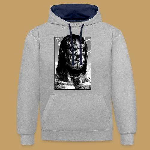 Frankenstein's Monster - Bluza z kapturem z kontrastowymi elementami