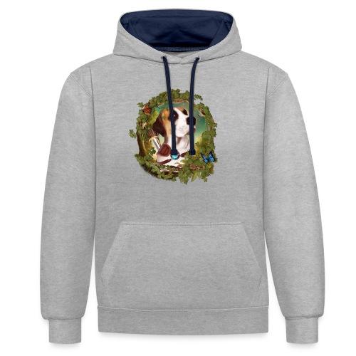 Fantasy Dog - Felpa con cappuccio bicromatica