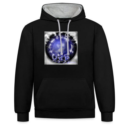 Hyperspace potato Blue Orb - Contrast Colour Hoodie
