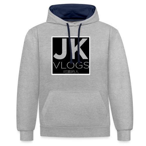 JK Vlogs Box Logo - Contrast Colour Hoodie