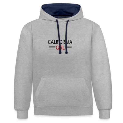 california girl - Kontrast-Hoodie