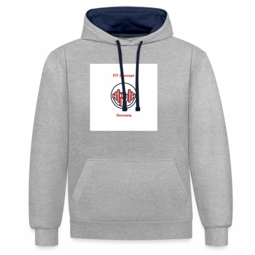 FIT Concept Germany Logo+Beschriftung - Kontrast-Hoodie