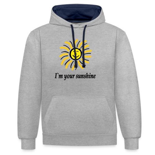 2i m youre sunshine Gelb Top - Kontrast-Hoodie