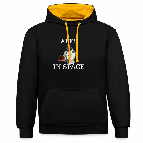 Apes in Space - Contrast Colour Hoodie