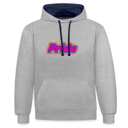 Pink Pride - Kontrast-Hoodie