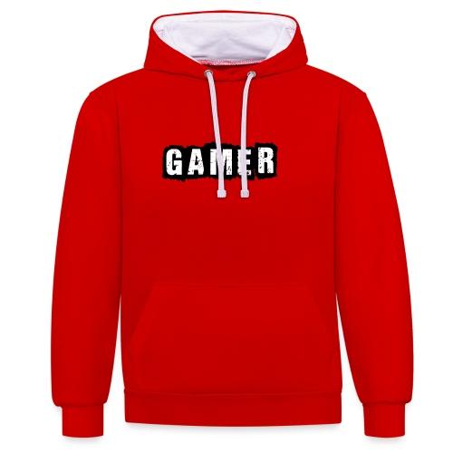 D 40 Gamer - Kontrast-Hoodie