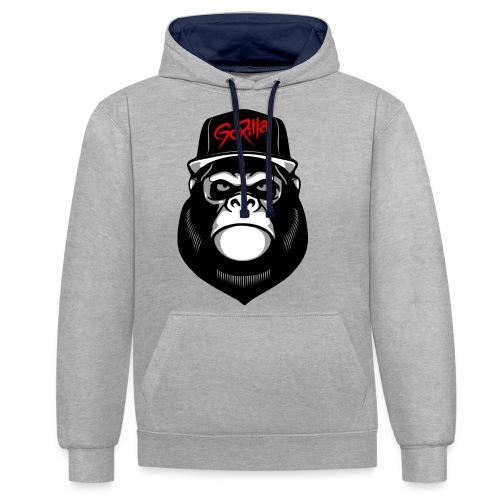 Urban Gorilla - Sudadera con capucha en contraste