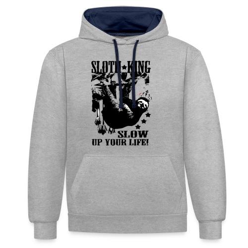 SlothKing - Kontrast-Hoodie