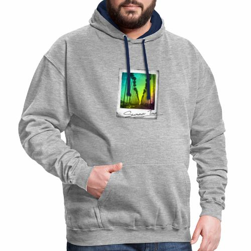 Summer Time - Contrast Colour Hoodie