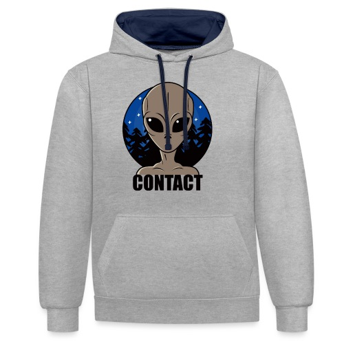 Contact Extraterrestre - Sweat-shirt contraste