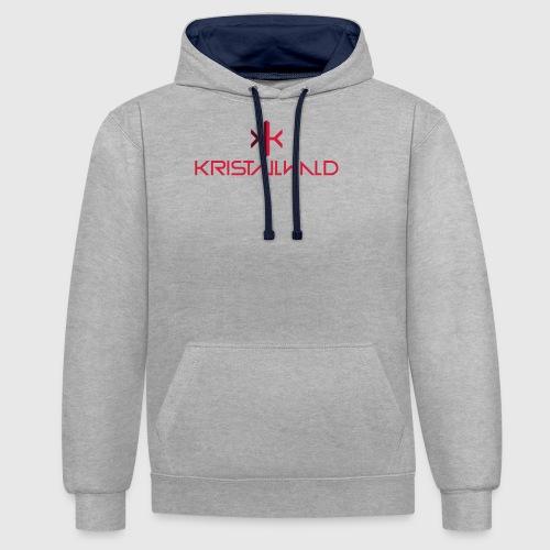 Kristallwald - Felpa con cappuccio bicromatica